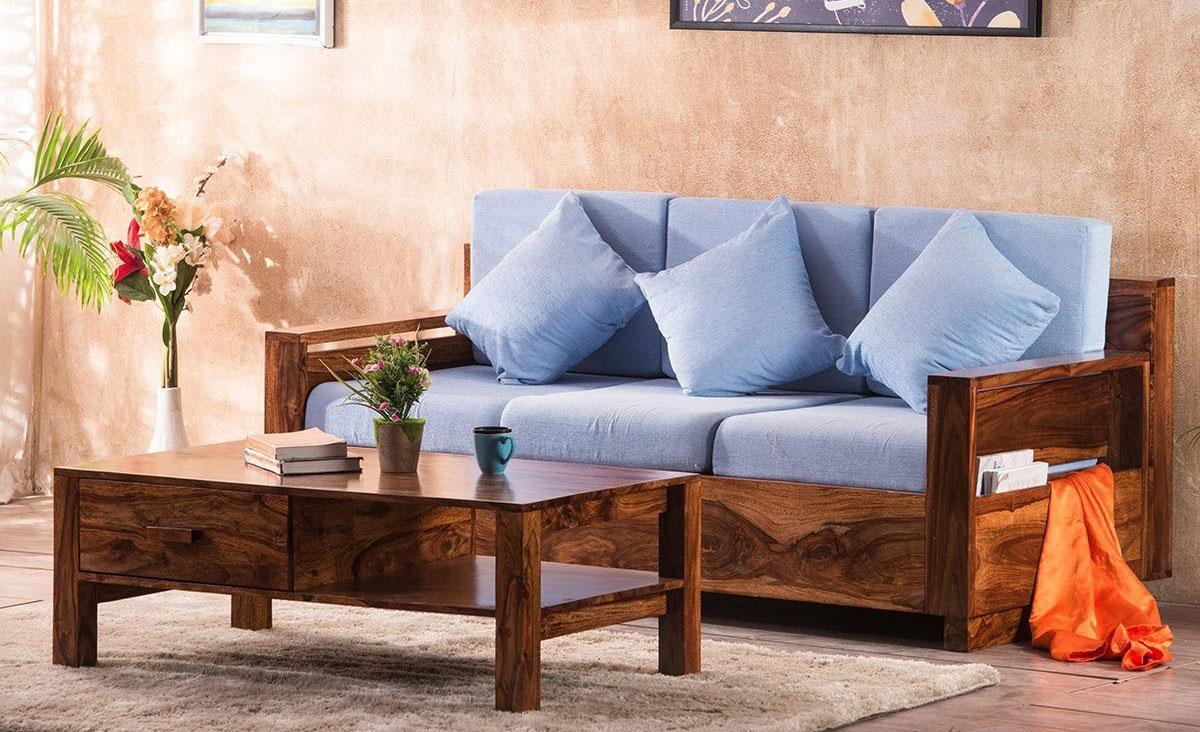sofa gỗ đẹp hiện đại cho nhà nhỏ hẹp